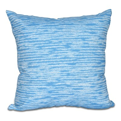 Hancock Marled Knit Geometric Print Outdoor Throw Pillow Size: 18 H x 18 W, Color: Blue