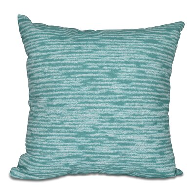 Hancock Marled Knit Geometric Print Outdoor Throw Pillow Size: 20 H x 20 W, Color: Green