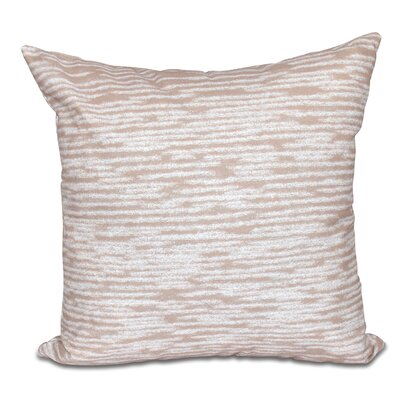 Hancock Marled Knit Geometric Print Outdoor Throw Pillow Size: 18 H x 18 W, Color: Taupe