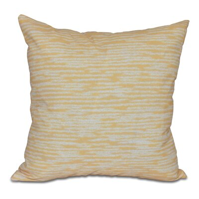Hancock Marled Knit Geometric Print Outdoor Throw Pillow Size: 20 H x 20 W, Color: Yellow