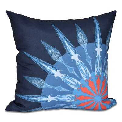 Hancock Sailors Delight Geometric Print Outdoor Throw Pillow Size: 18 H x 18 W, Color: Navy Blue
