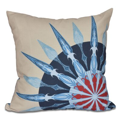 Hancock Sailors Delight Geometric Print Outdoor Throw Pillow Size: 18 H x 18 W, Color: Taupe