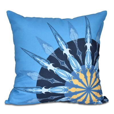 Hancock Sailors Delight Geometric Print Outdoor Throw Pillow Size: 18 H x 18 W, Color: Blue