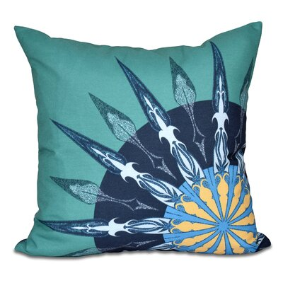 Hancock Sailors Delight Geometric Print Outdoor Throw Pillow Size: 18 H x 18 W, Color: Green