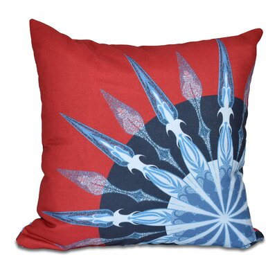 Hancock Sailors Delight Geometric Print Outdoor Throw Pillow Size: 18 H x 18 W, Color: Red