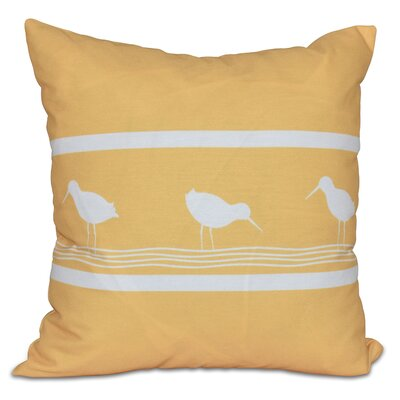 Hancock Birdwalk Animal Print Throw Pillow Color: Yellow, Size: 26 H x 26 W