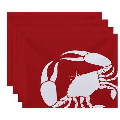 Shirley Mills Crab Dip Animal Print Placemat Color: Coral