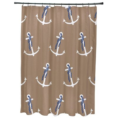 Hancock Anchor Whimsy Geometric Print Shower Curtain Color: Taupe