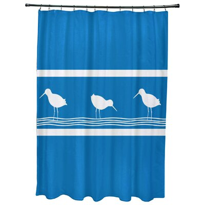 Hancock Birdwalk Animal Print Shower Curtain Color: Blue