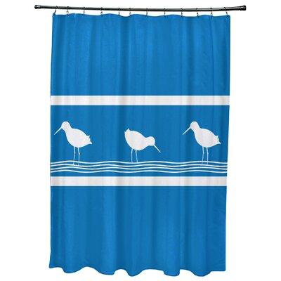 Hancock Birdwalk Animal Print Shower Curtain Color: Blue