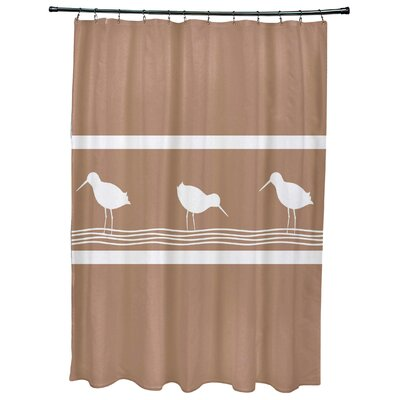Hancock Birdwalk Animal Print Shower Curtain Color: Taupe