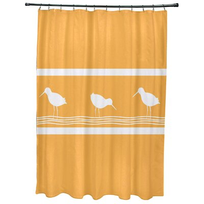 Hancock Birdwalk Animal Print Shower Curtain Color: Yellow