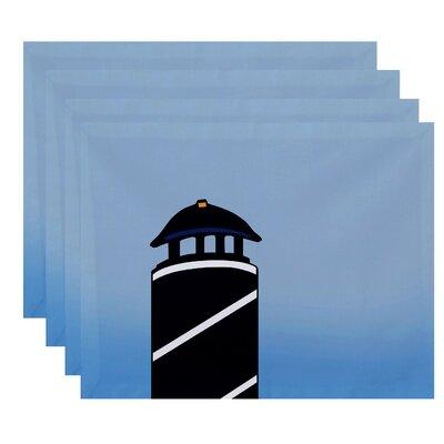 Hancock Safe Harbor Geometric Print Placemat Color: Navy Blue