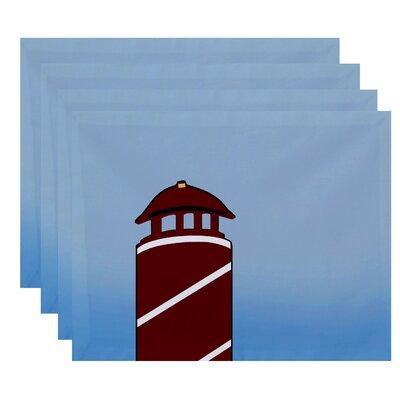 Hancock Safe Harbor Geometric Print Placemat Color: Red