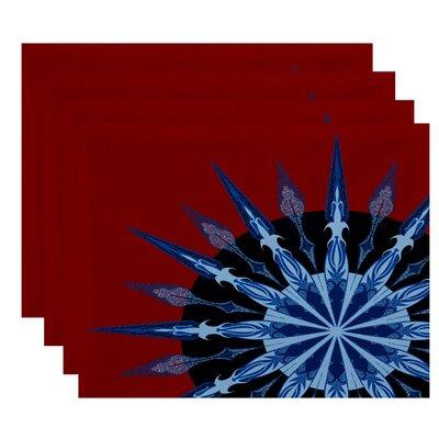 Hancock Sailor's Delight Geometric Print Placemat Color: Red