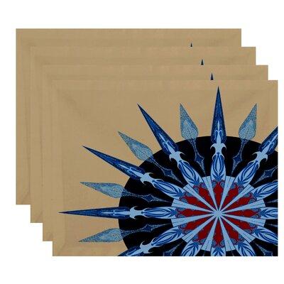 Hancock Sailor's Delight Geometric Print Placemat Color: Taupe