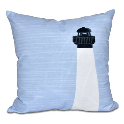 Hancock Light House Geometric Print Throw Pillow Size: 26 H x 26 W