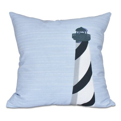 Hancock Light House Geometric Print Throw Pillow Size: 20