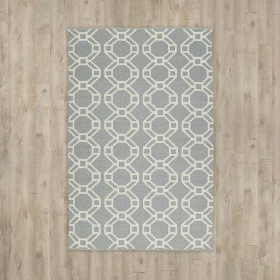 Fowler Gray/Cream Indoor/Outdoor Area Rug Rug Size: 8 x 10