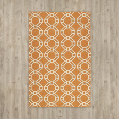 Fowler Orange/Cream Indoor/Outdoor Area Rug Rug Size: 3 x 5