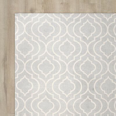 Justine Light Gray Area Rug Rug Size: 5 x 7
