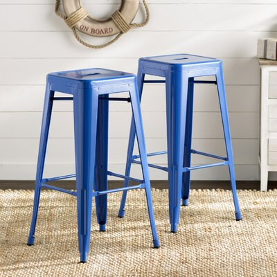 30 Bar Stool Color: Blue