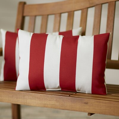 Ardley Outdoor Lumbar Pillow Color: Cabana Red