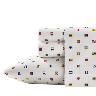 Longitude 200 Thread Count Flag Sheet Set Size: Full