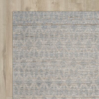 Gilchrist Hand-Woven Grey/Gold Area Rug Rug Size: 9 x 12