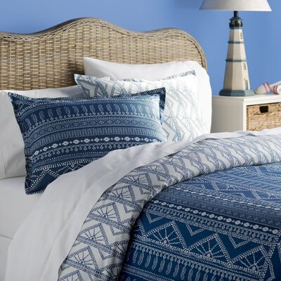 Jacalyn Cotton Reversible Duvet Cover Set Size: Twin