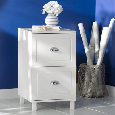 Greylag 2 Drawer Filing Cabinet Finish: Antique White