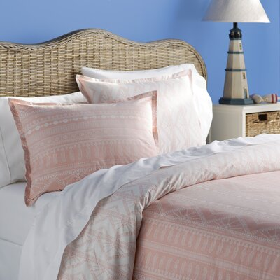Bingham Reversible Duvet Cover Set Size: Twin