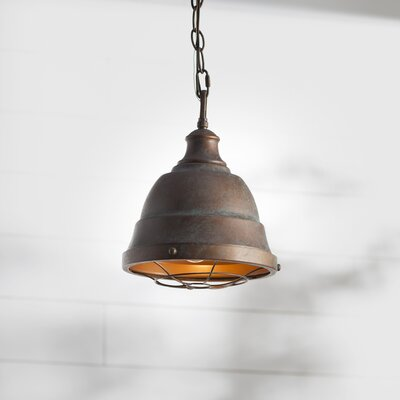 Elinna 1-Light Foyer Mini Pendant Color: Copper Patina