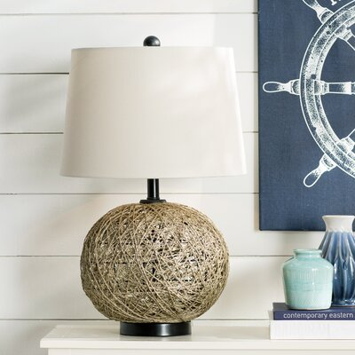 Bar Mills Woven Natural Rattan Ball 29 Table Lamp