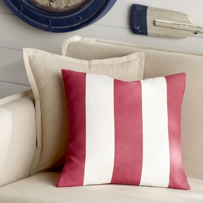 Trimaran Linen Throw Pillow Color: Red, Size: 18