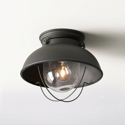Everetts 1-Light Outdoor Flush Mount