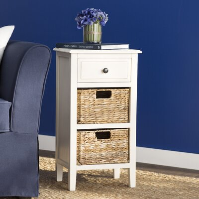 Small Point End Table Color: Off-White