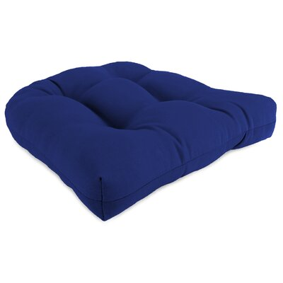 Indoor/Outdoor Chair Cushion Fabric: Cobalt Blue