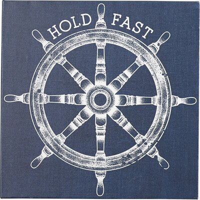 'Hold Fast' Painting Print on Wrapped Canvas in Blue and White