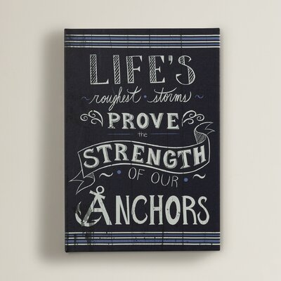 'Life's Roughest Storm' Textual Art on Wrapped Canvas