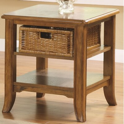 Kentmere End Table With Storage Color: Medium Brown