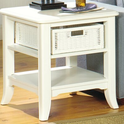Kentmere End Table With Storage Color: Antique White