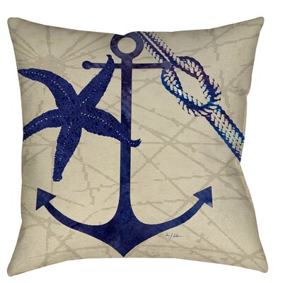 Herring Landing Printed Throw Pillow Size: 16 H x 16 W x 4 D