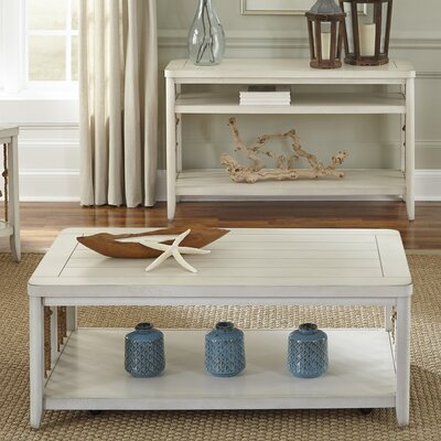 Alburg Coffee Table Finish: White