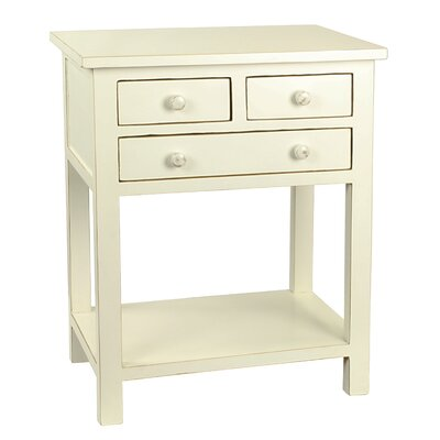 Bartlett End Table Color: White