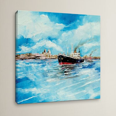 Steamer III Painting Print on Wrapped Canvas Size: 10