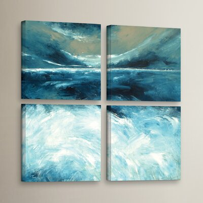 Winter Norfolk Sea 4 Piece Painting Print on Wrapped Canvas Set Size: 36