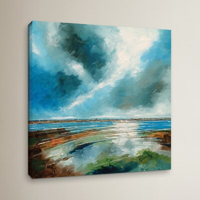 Salthouse View I Painting Print on Wrapped Canvas Size: 10
