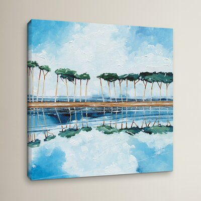 Trees I Painting Print on Wrapped Canvas