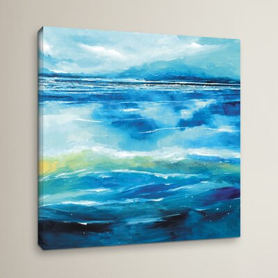 Seascape V Painting Print on Wrapped Canvas Size: 10